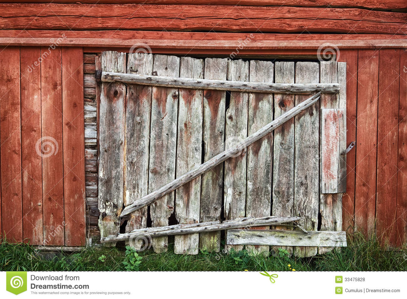 Old wooden barn door stock photo image of rough