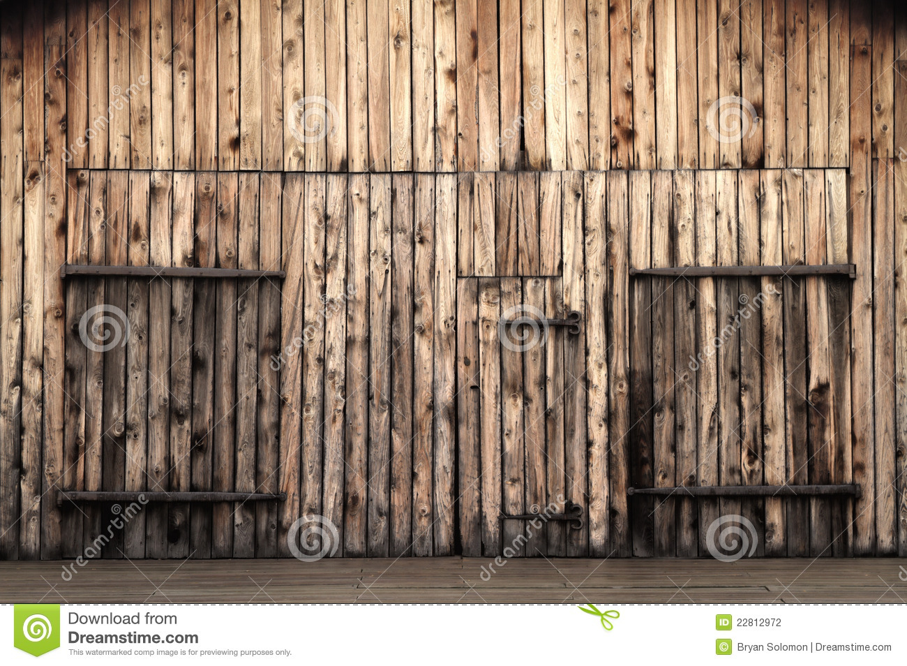Old Wooden Barn Doors Stock Photo Image Of Design Dirty