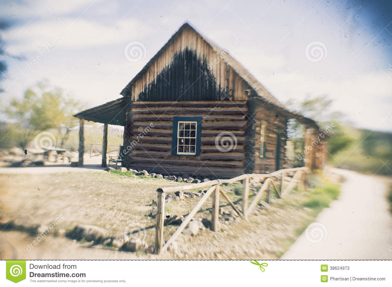 Old Wooden Barn Farm House Pioneer Style Stock Image