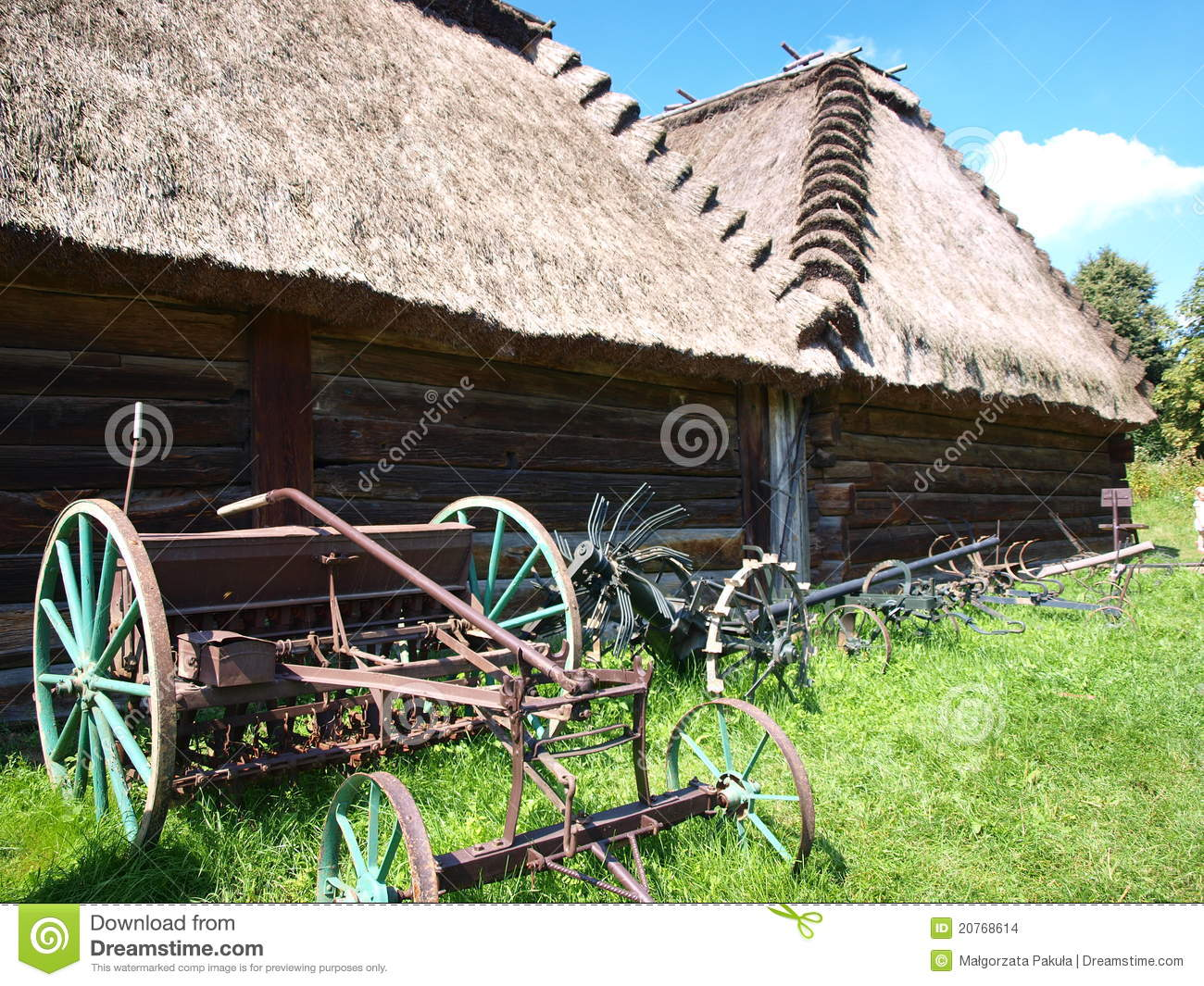 Old Wooden Barn Lublin Poland Stock Photo Image Of
