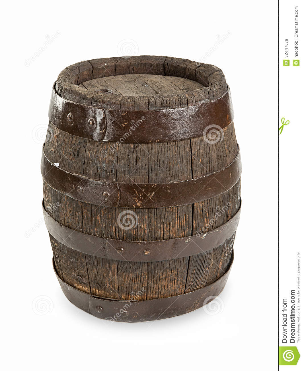 Old Wooden Barrel Stock Image Image Of Up Full Single