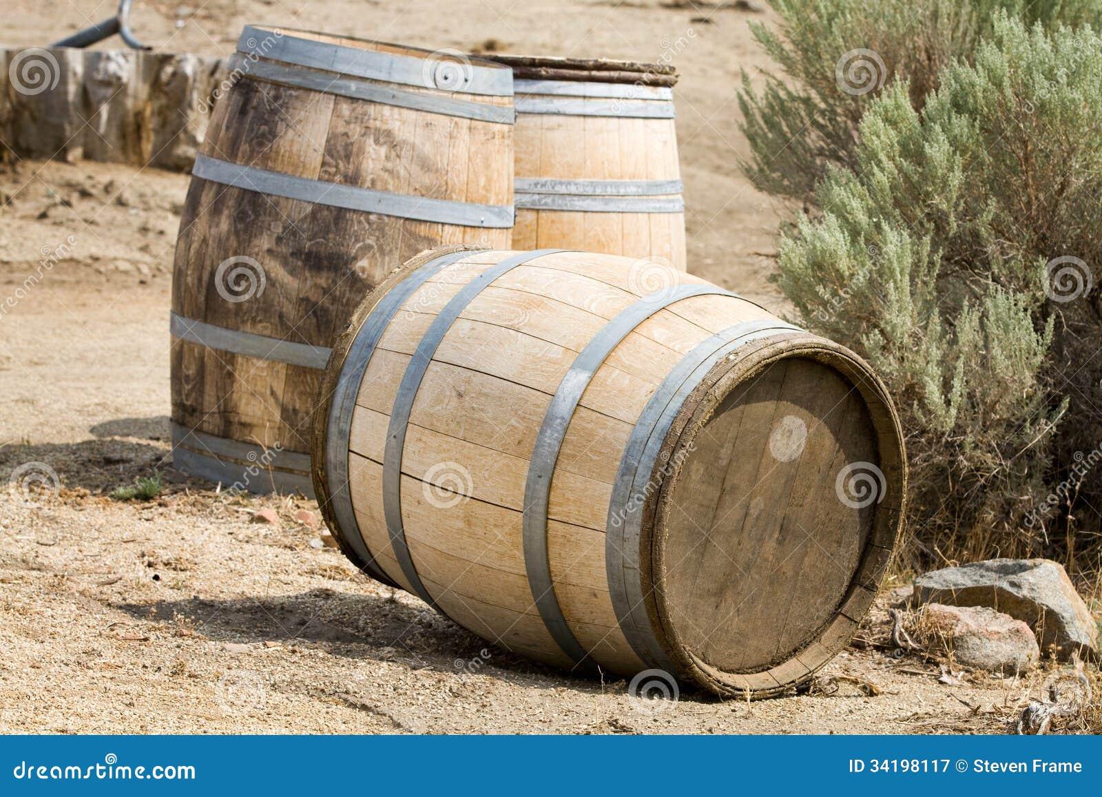 Download Old Wooden Barrels Stock Image. Image Of Outside, Vintage    34198117