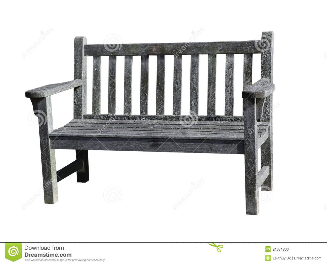 Old Wooden Bench ~ Old wooden bench royalty free stock image