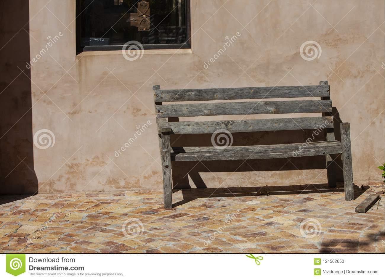 Brilliant Old Wooden Bench In A Rural Farm South Africa Stock Photo Beatyapartments Chair Design Images Beatyapartmentscom
