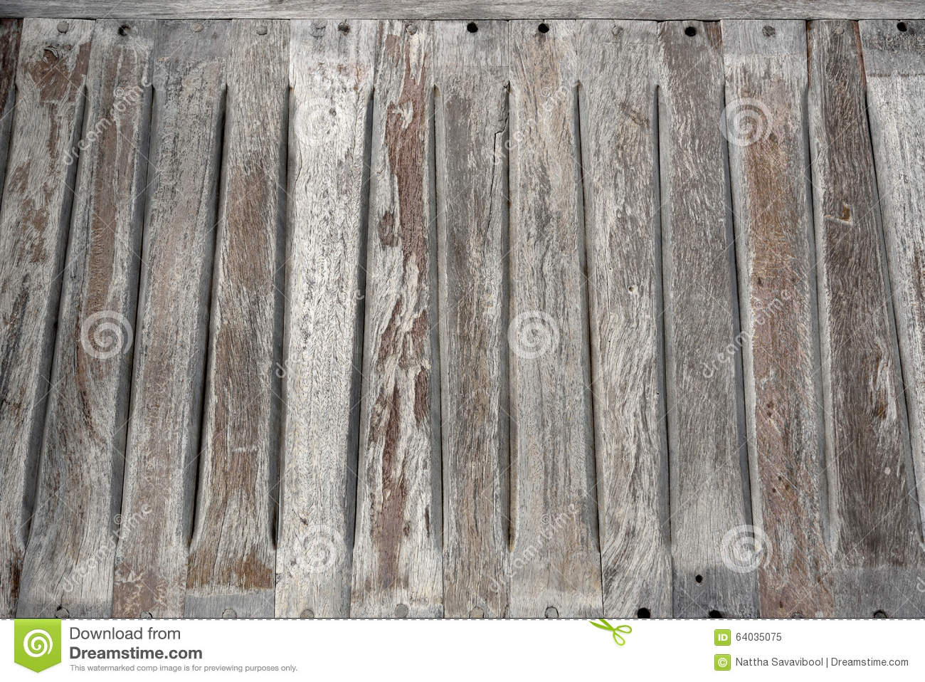 Old Wooden Bench Seat Stock Image Image Of Grain Nail 64035075