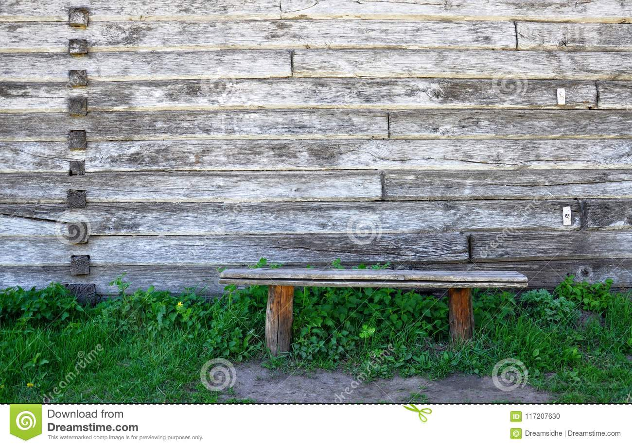 Swell Old Wooden Bench Standing In The Grass Against The Onthecornerstone Fun Painted Chair Ideas Images Onthecornerstoneorg