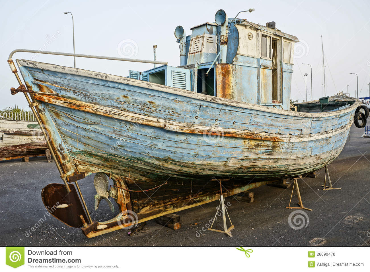 Old Wooden Boat Stock Photo - Image: 26090470