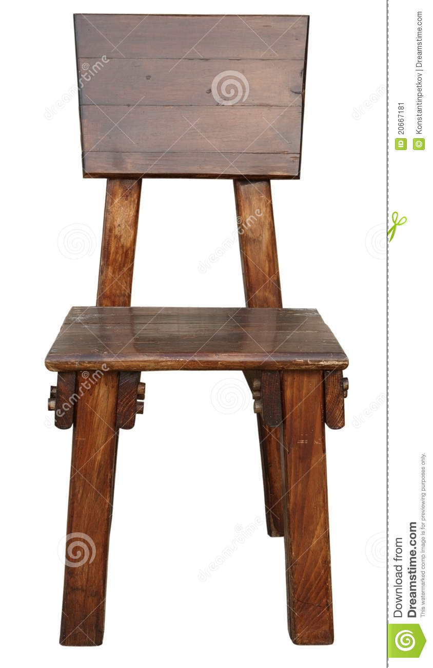 Old wooden chair stock image image 20667181