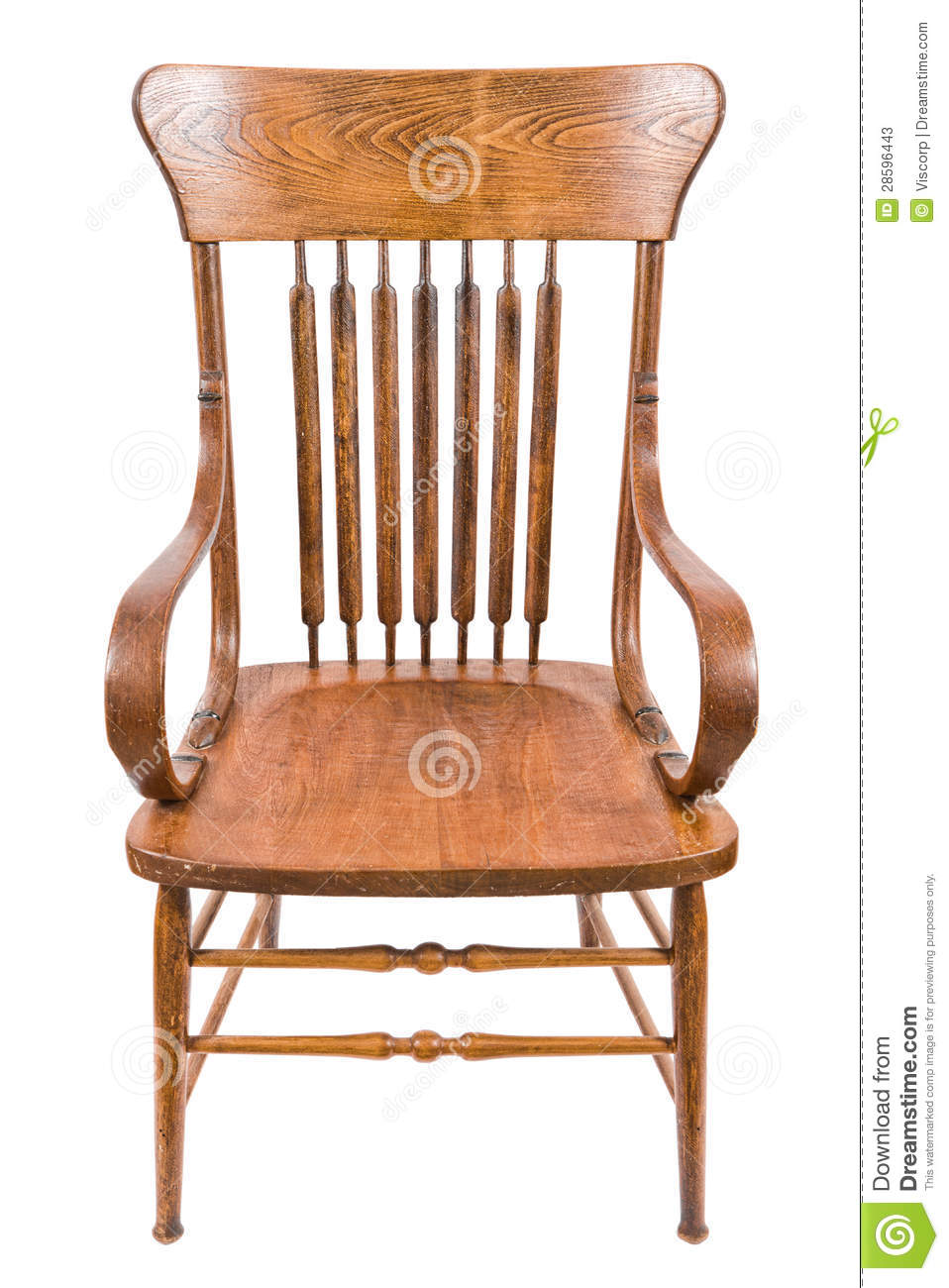 Old wooden chair stock photos image 28596443