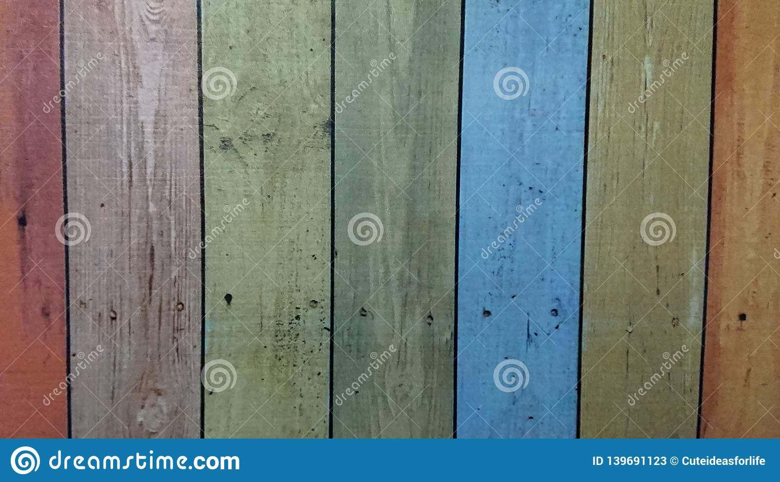 Old wooden colorful plank texture background