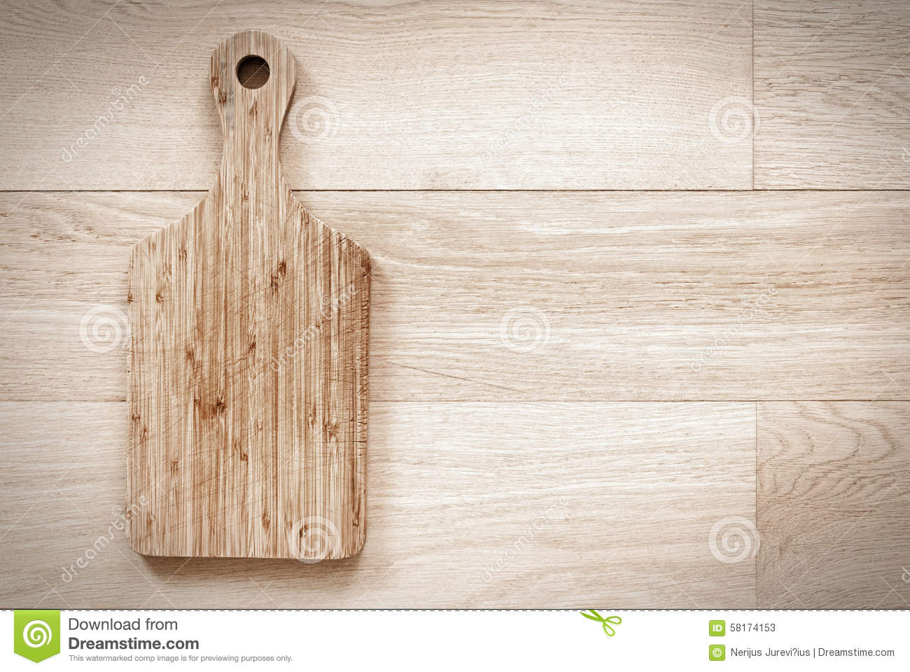 Old Wooden Cutting Board Stock Photo - Image: 58174153