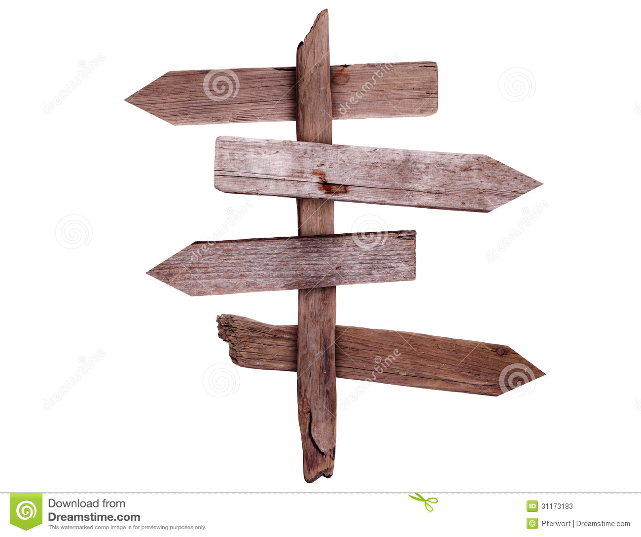 Old Wooden Direction Signs Stock Image Image Of