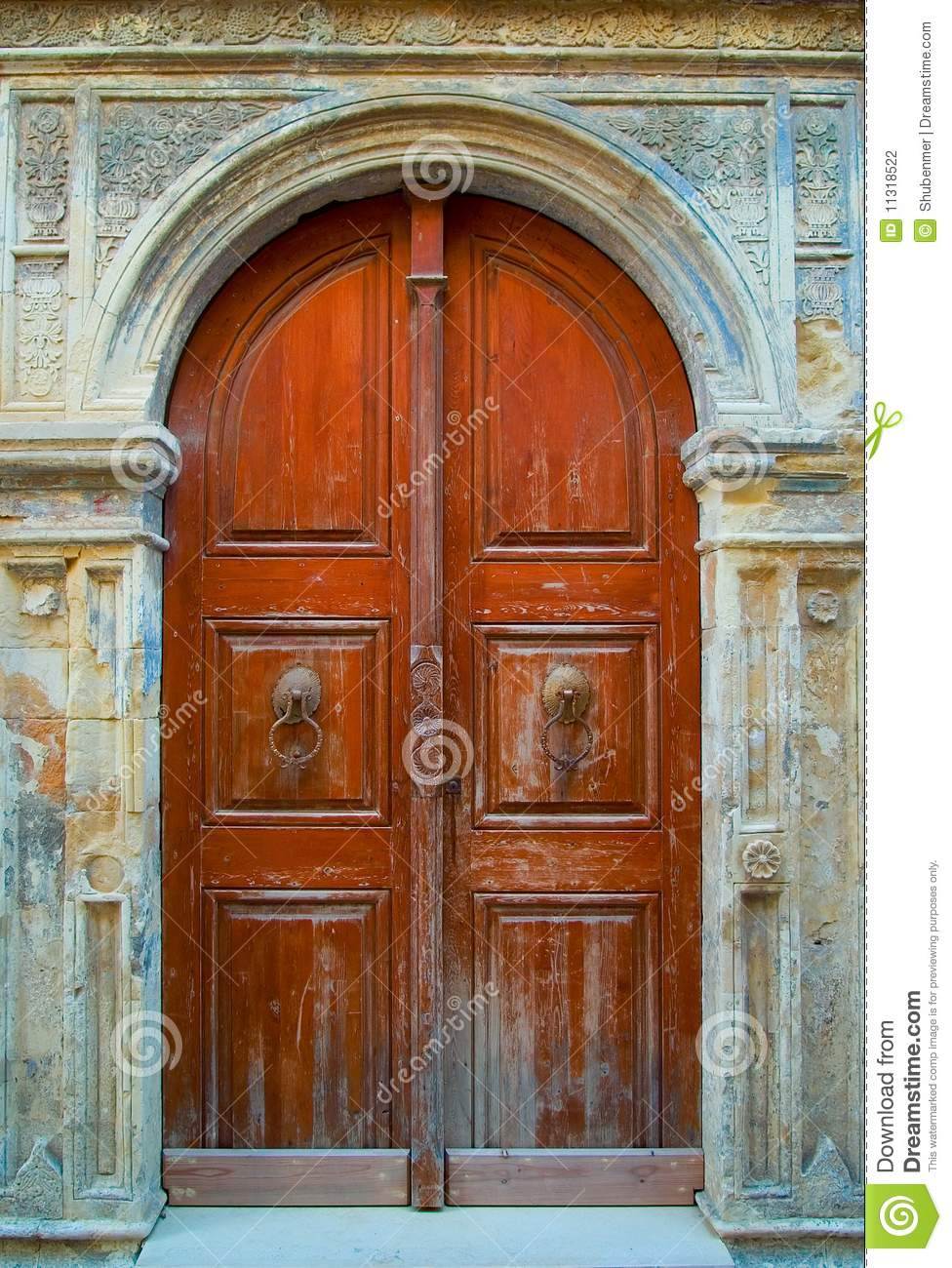 Old Wooden Door Stock Photo Image Of Medieval Outdoors 11318522