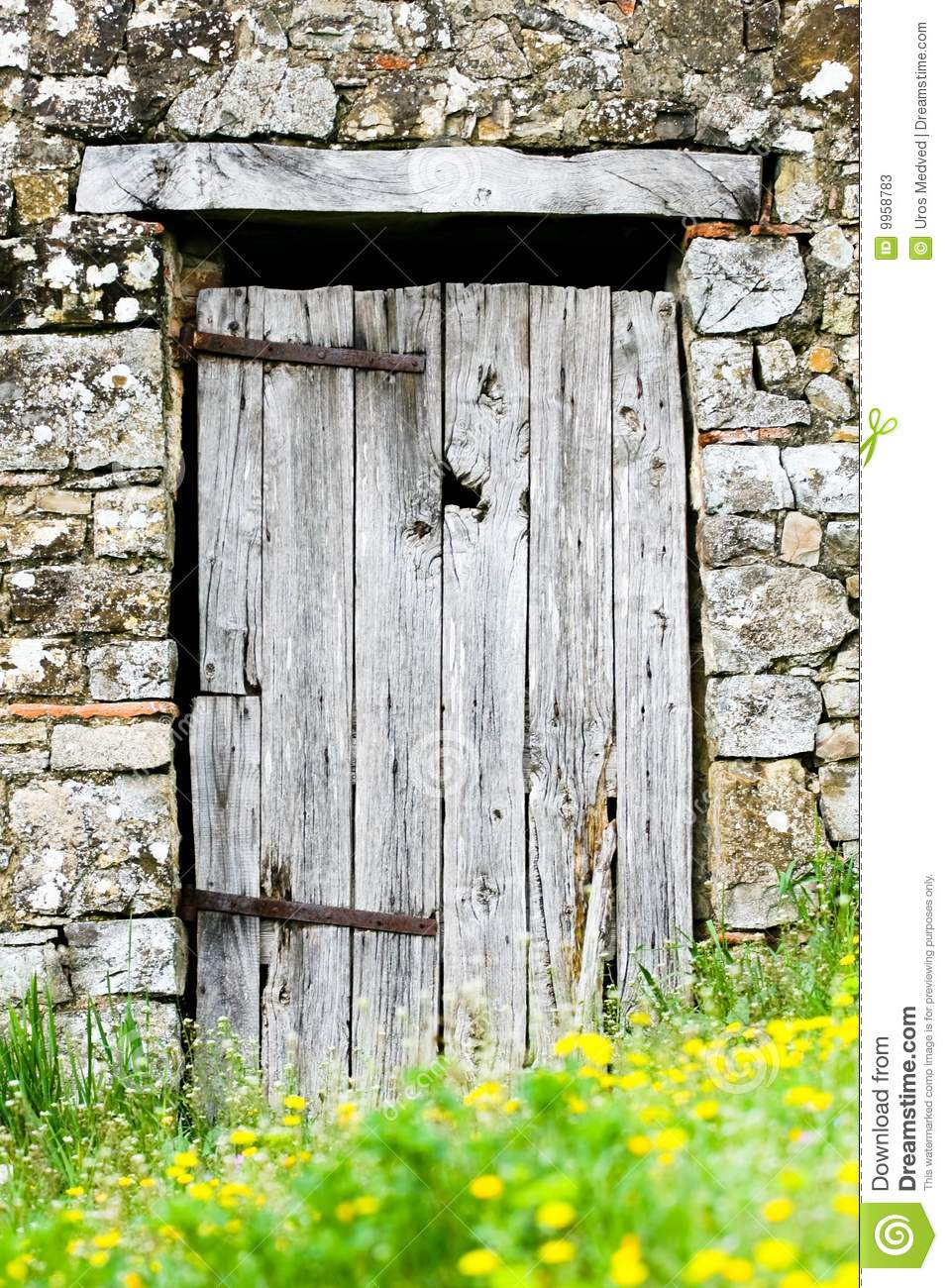 Old Wooden Doors : Old wooden door stock image of doorknob entering