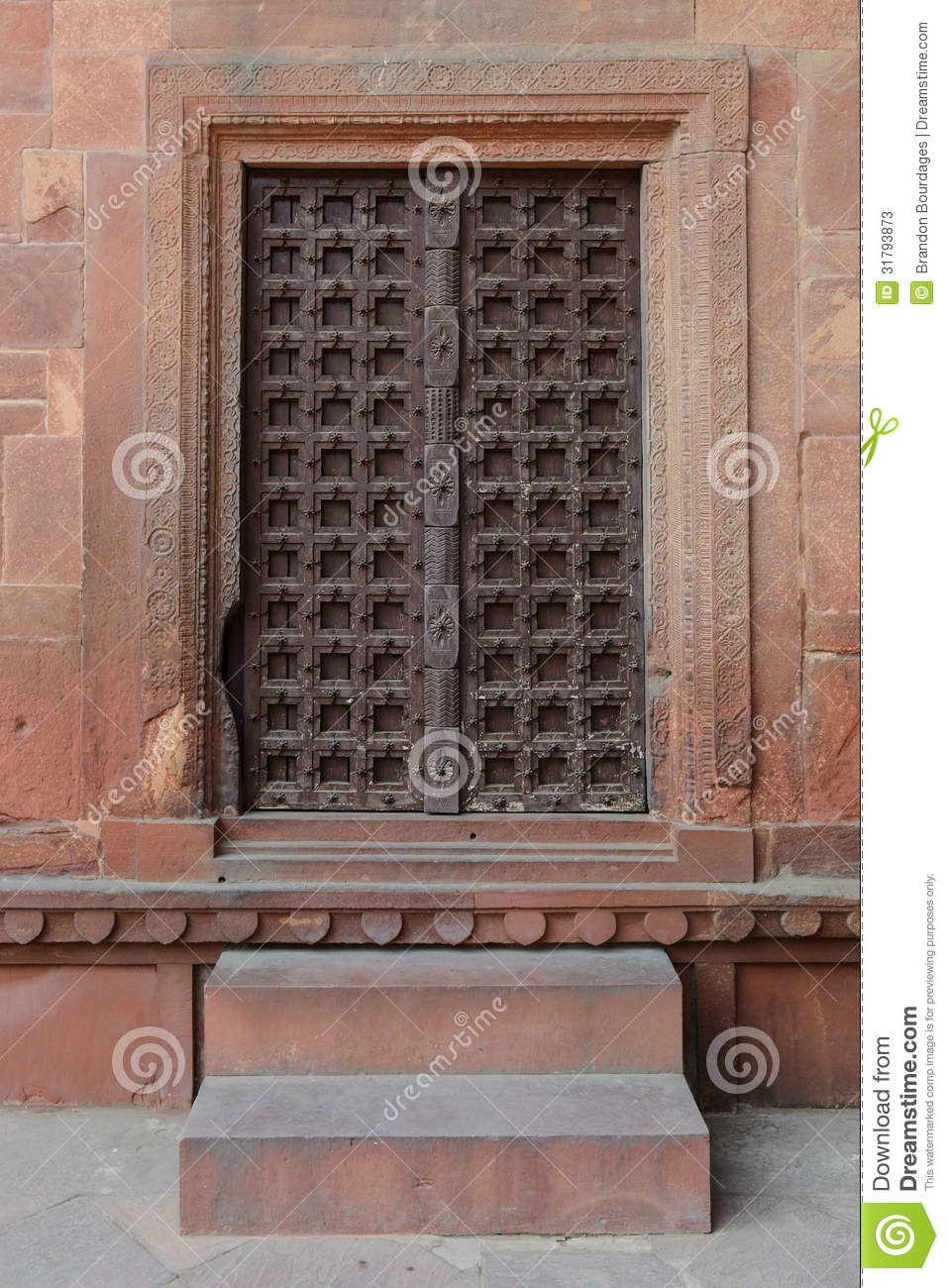 Old Wooden Door With Steps Stock Image Image Of