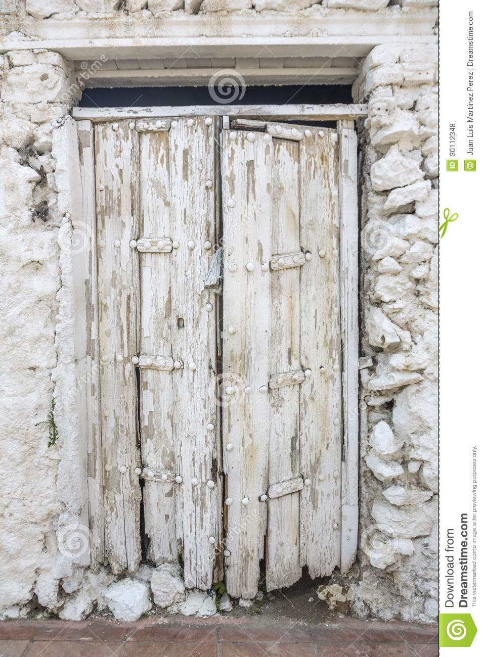 White door stock photo image of abandoned door white for White wooden front doors