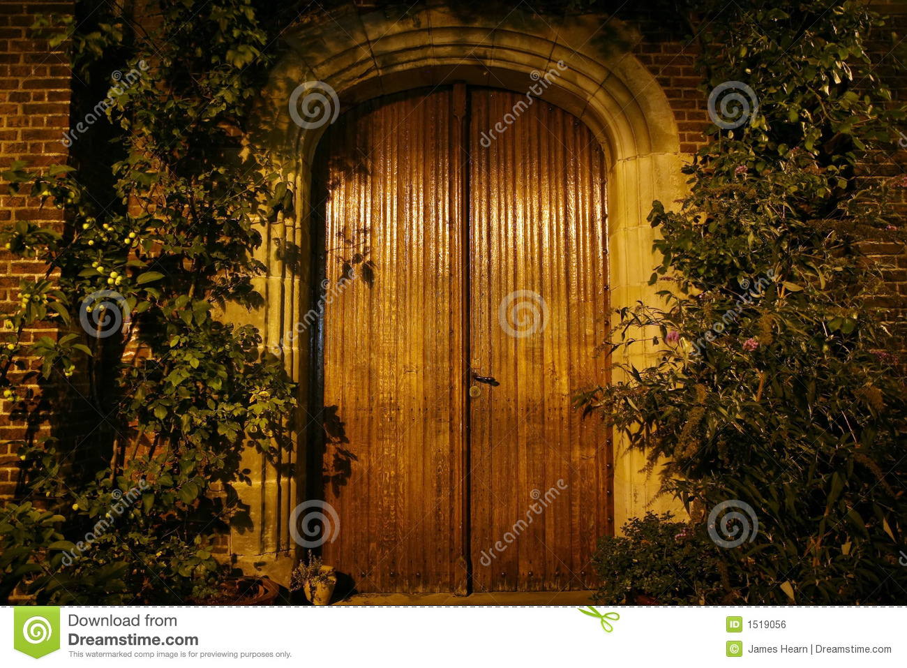 Old wooden doors stock photo image of brick wood stone for Puertas viejas