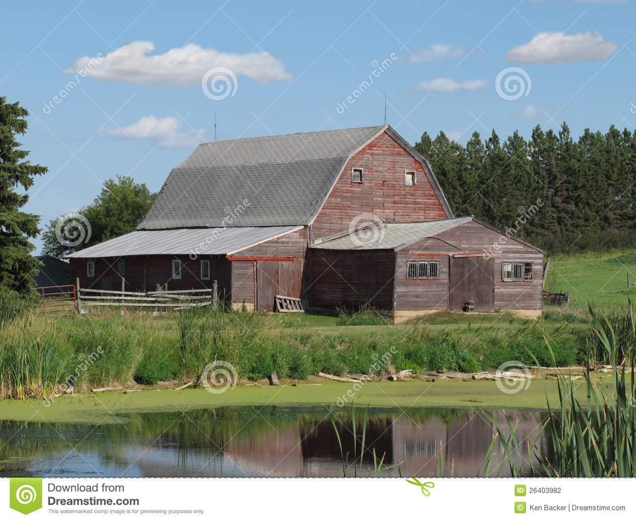 Old wooden farm barn in the american prairie stock for American barn plans