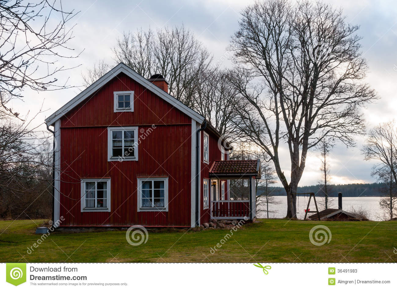 Old Wooden Farmhouse In Sweden Stock s Image
