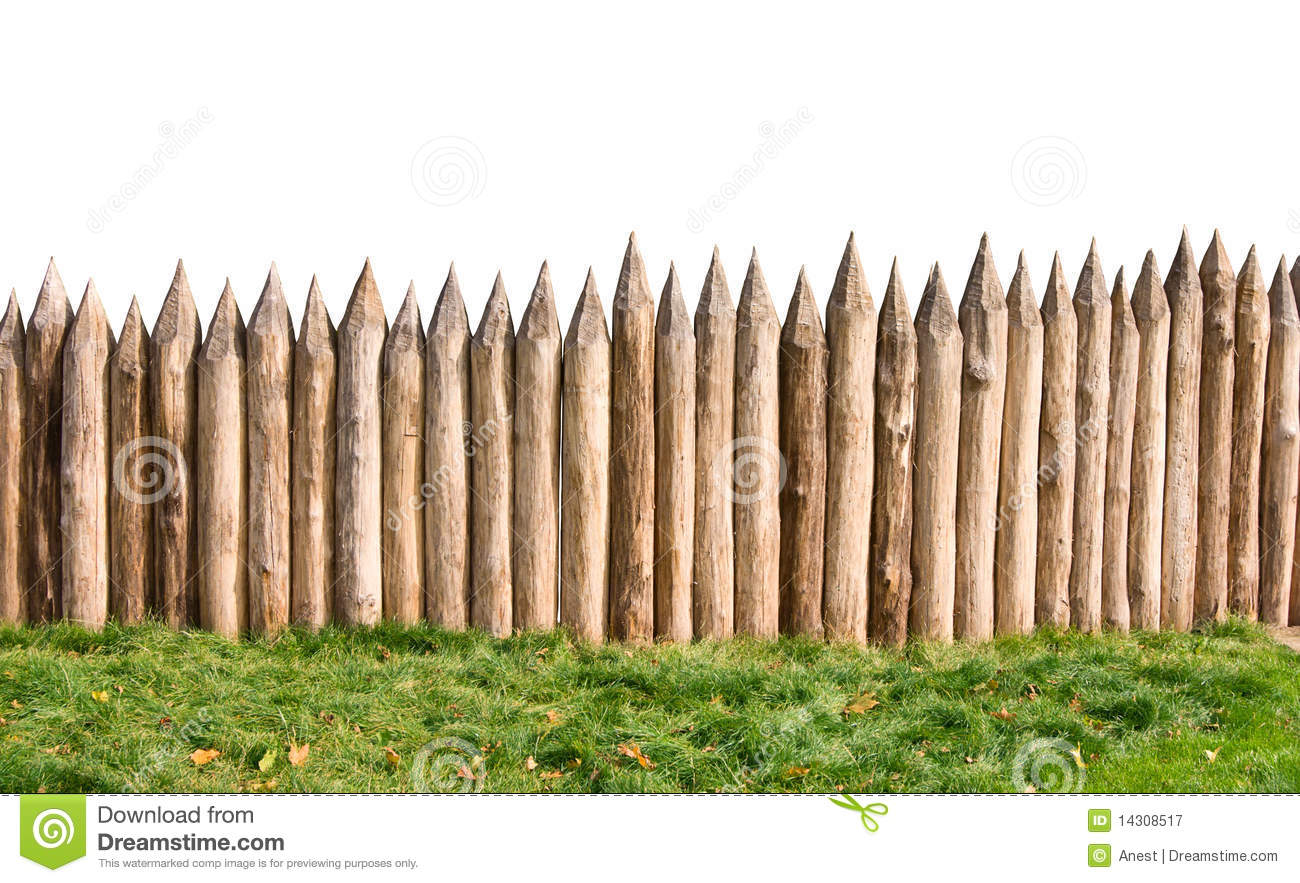 Old Wooden Fence And Grass Royalty Free Stock Photography