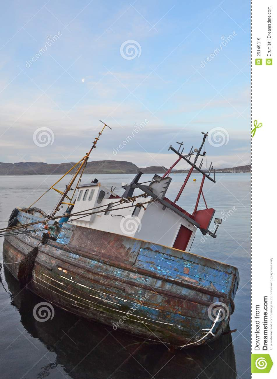 Old wooden fishing boat stock image. Image of planks - 26149319