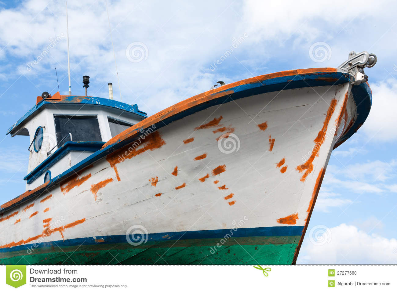 Old Wooden Fishing Boat Stock Photo - Image: 27277680