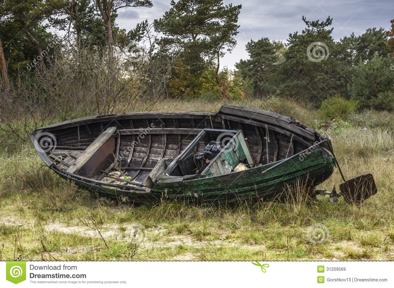 Old Wooden Fishing Boat Royalty Free Stock Images - Image: 31209569