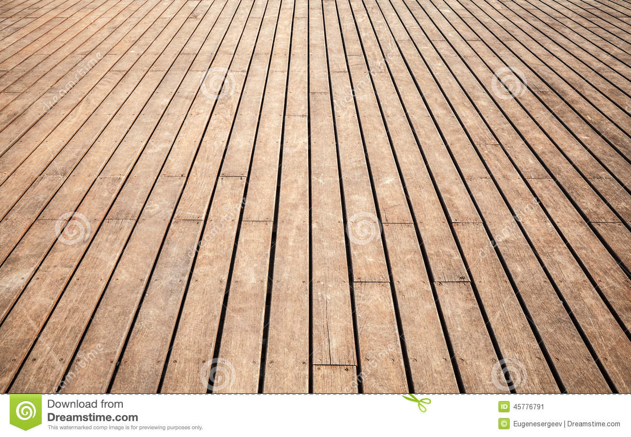 Old Wooden Floor Perspective Background Texture Stock