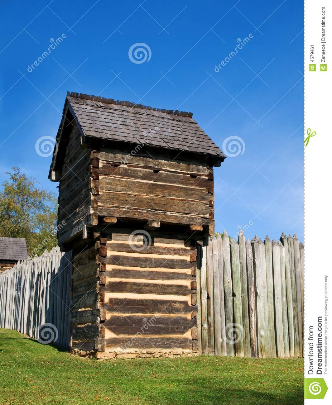 Old wooden fort stock image image 4579461 for Old wooden forts