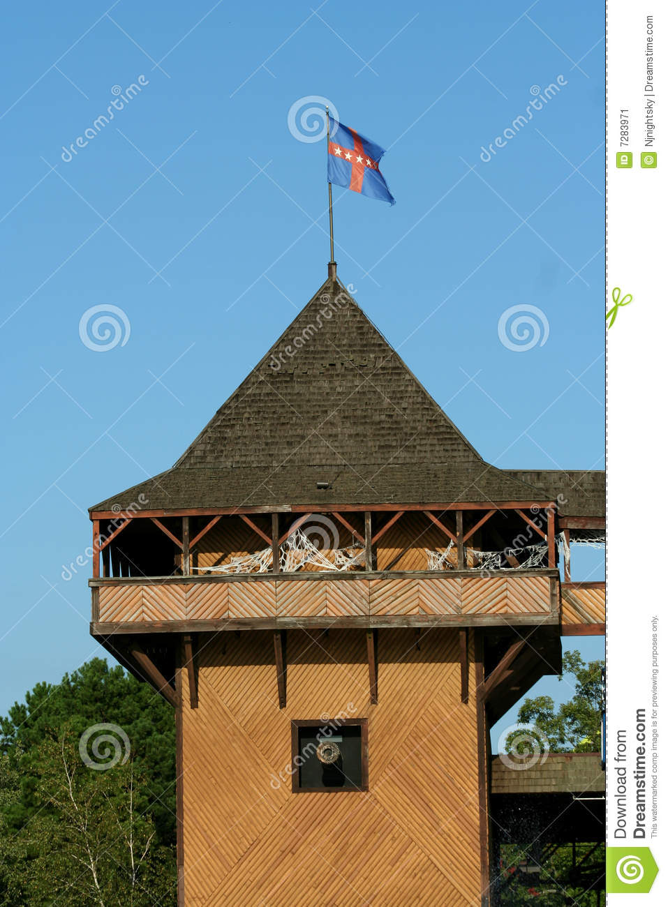 Old wooden fort stock image image 7283971 for Old wooden forts
