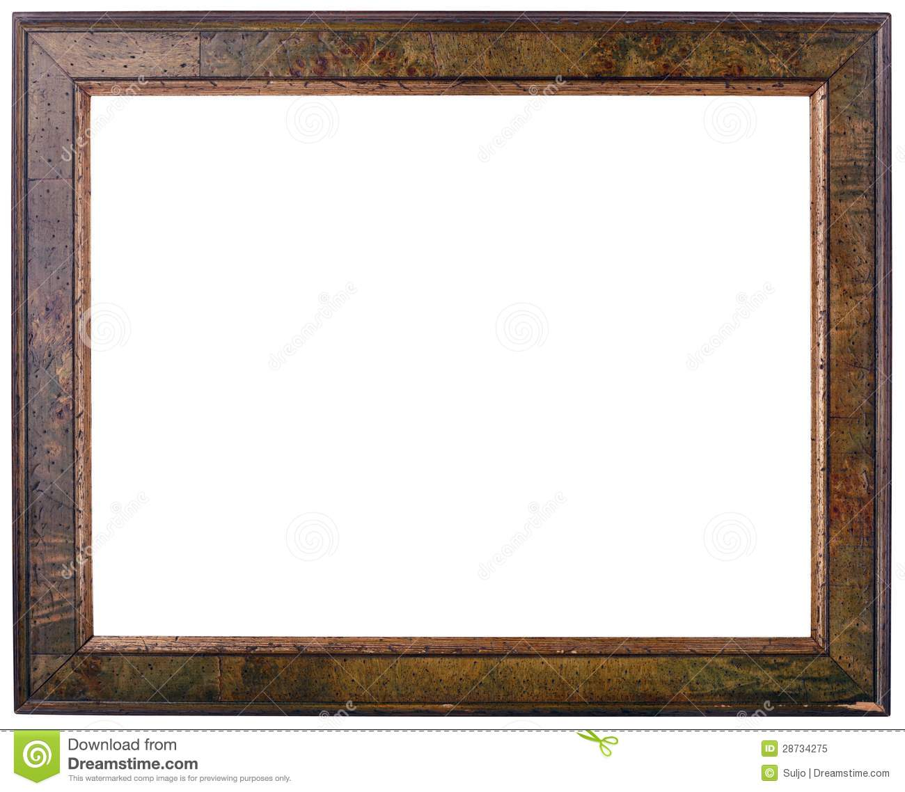 Old Wooden Frame Cutout stock image. Image of brown, cutout - 28734275