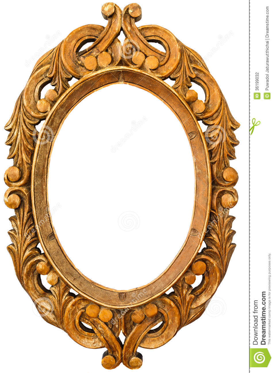Old Wooden Frame Stock Photography Image 36199032