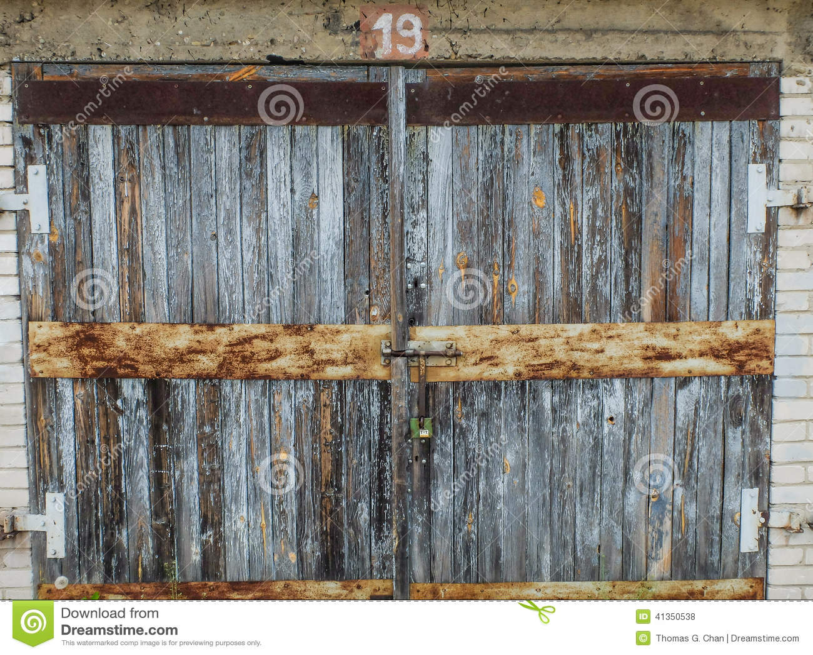 An old wooden garage door stock photo image 41350538 for Wooden outer doors