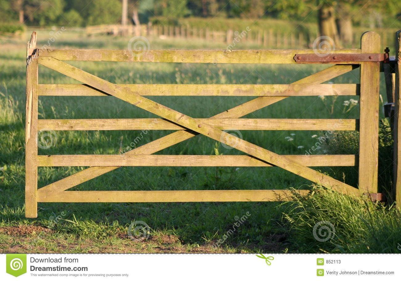 Old Wooden Gate To Paradise Stock Image Image Of Nails