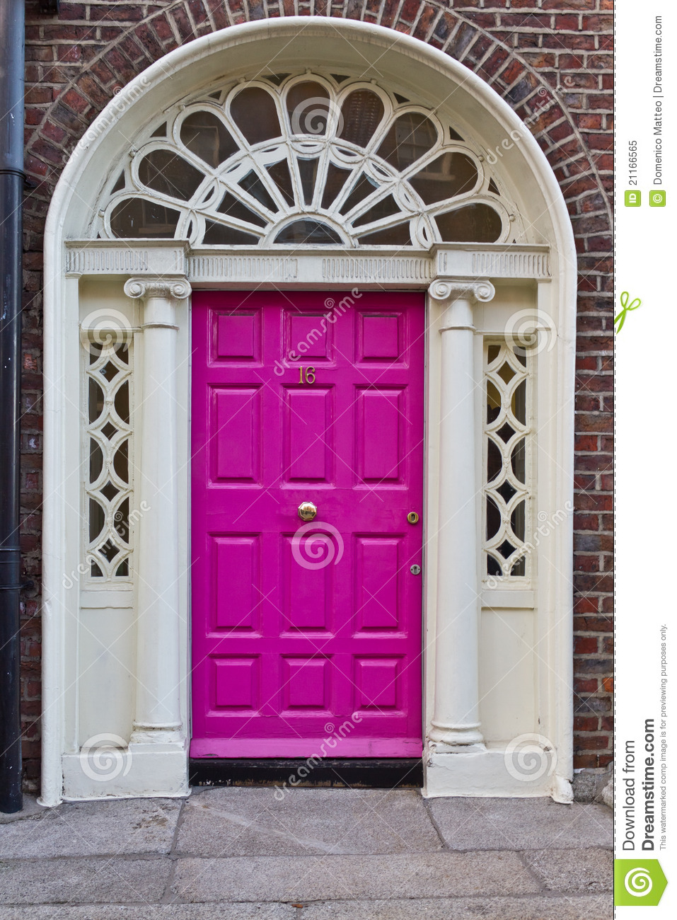 An old wooden georgian door of dublin royalty free stock for Classic house green street dublin 7