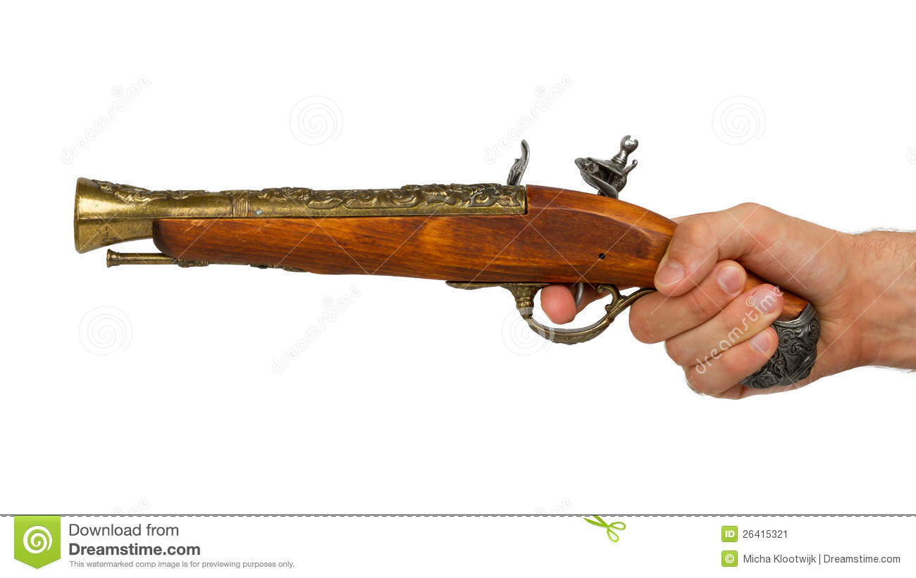 Old Wooden Gun Stock Image - Image: 26415321