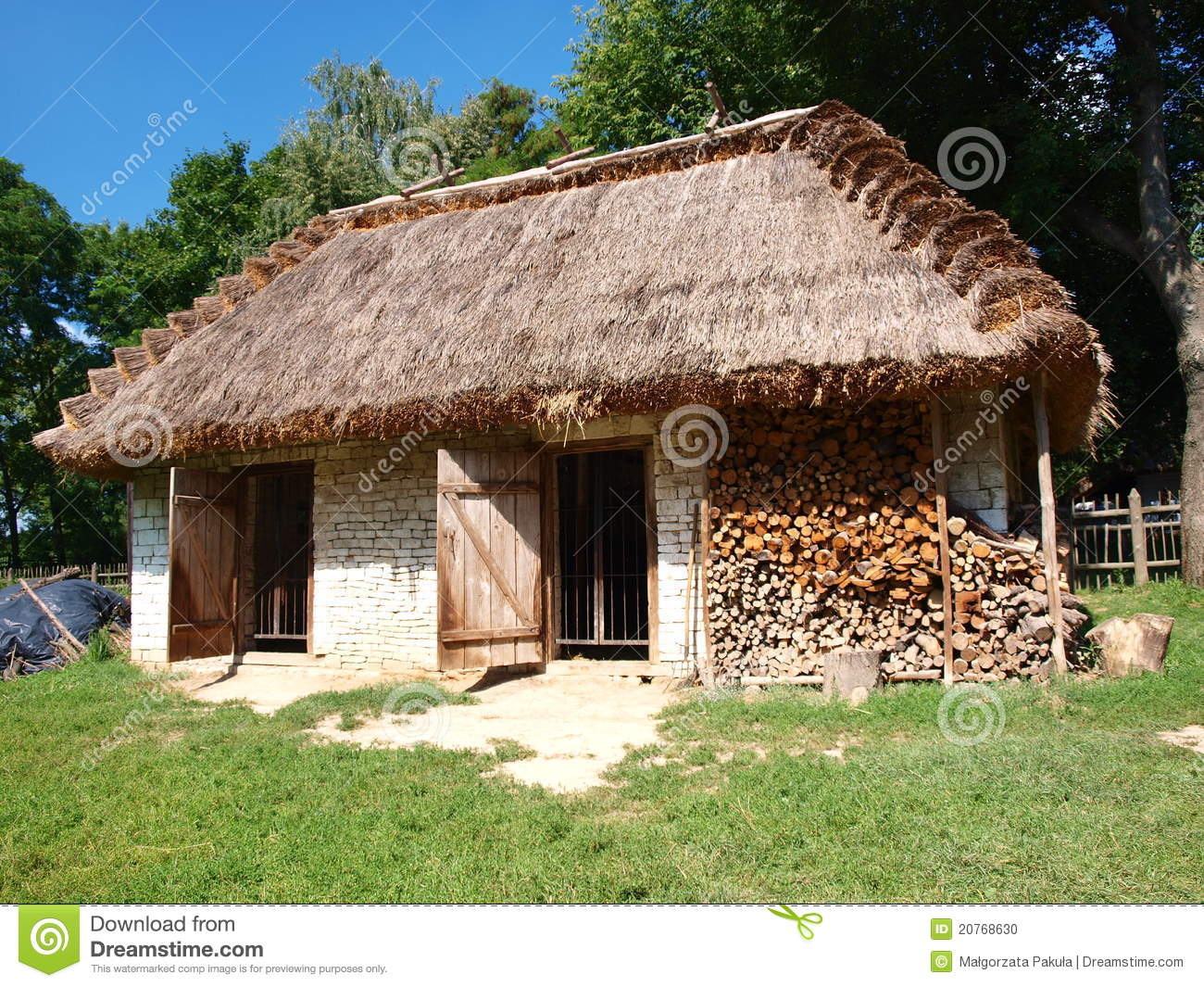 Old Wooden Hen House From Zukow Lublin Poland Stock Photo Image 20768630
