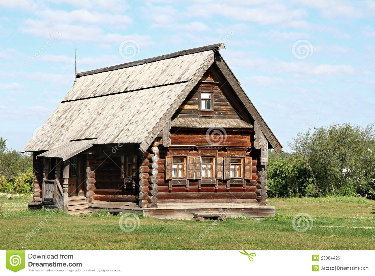 Old Wooden House Royalty Free Stock Image Image 23904426