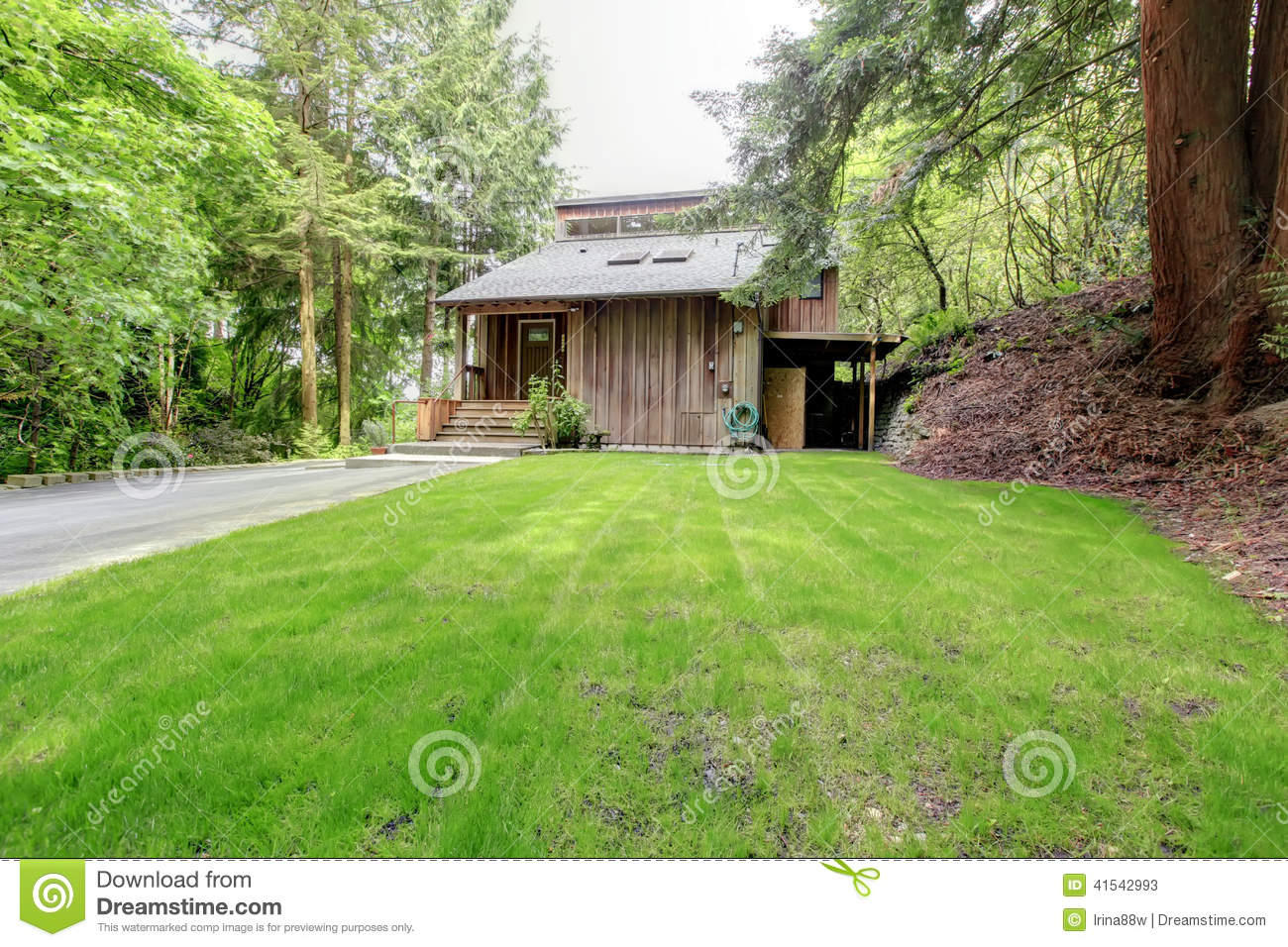 Old Wooden House Exterior Front Porch Stock Image Image