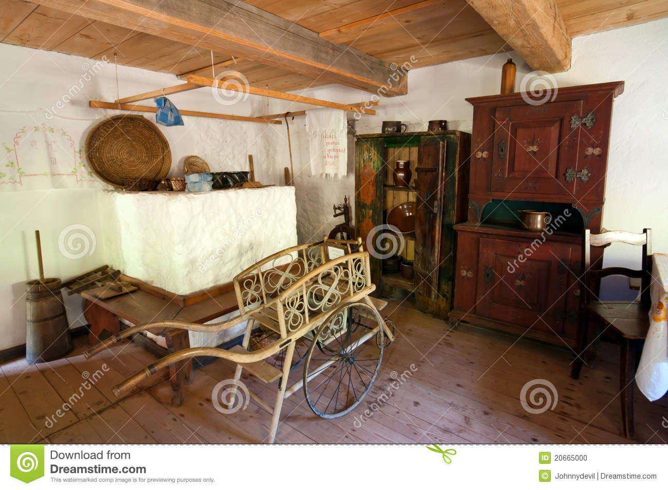 old wooden house interior editorial image image of history 20665000. Black Bedroom Furniture Sets. Home Design Ideas