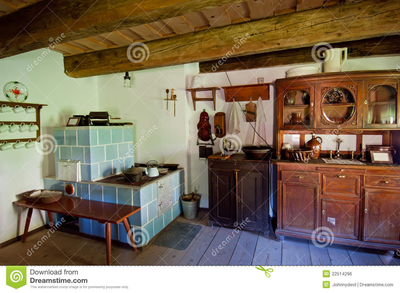 old wooden house interior royalty free stock image image 22514296. Black Bedroom Furniture Sets. Home Design Ideas