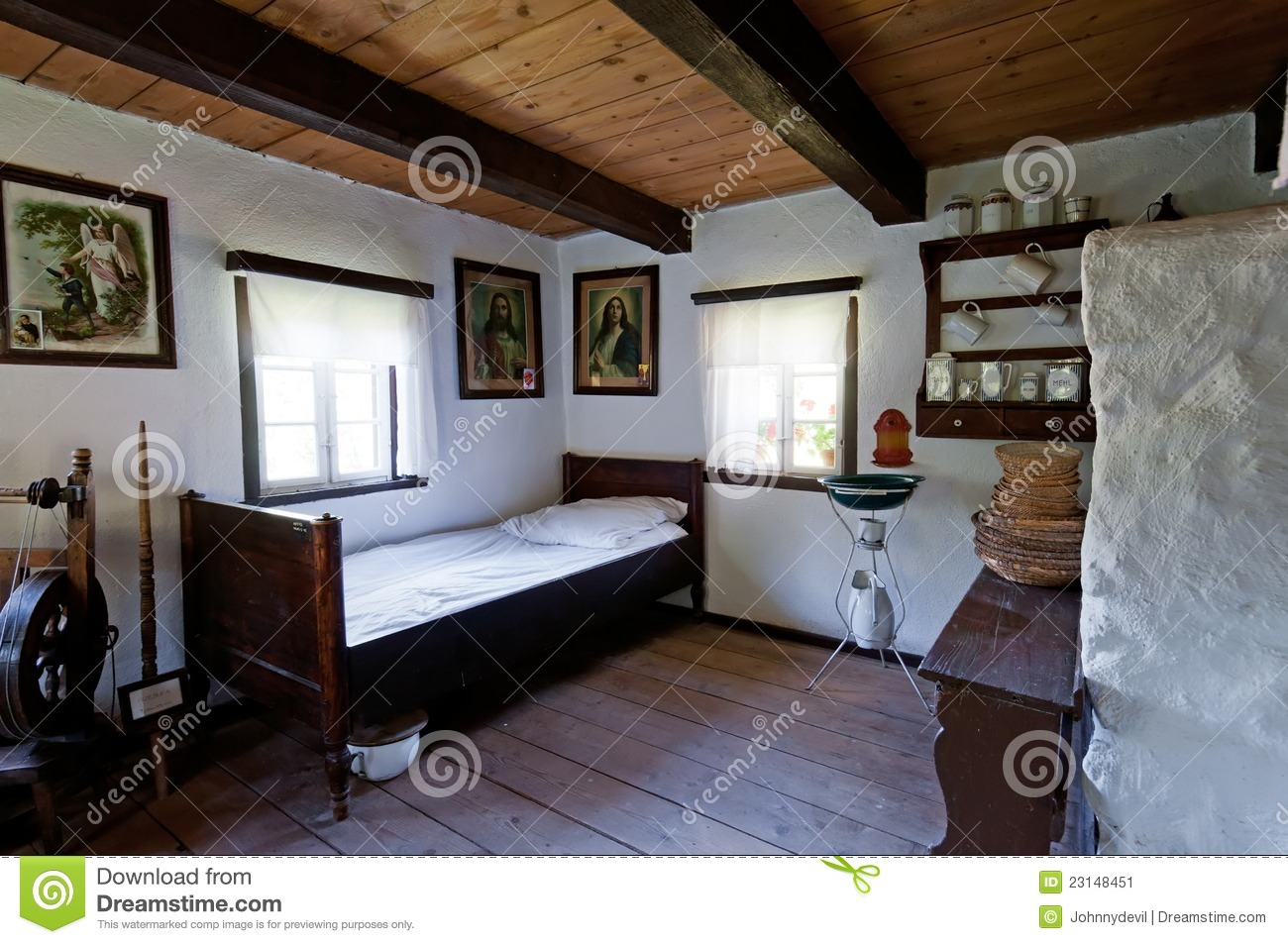 Old wooden house interior editorial photo image 23148451 - House interiors ...