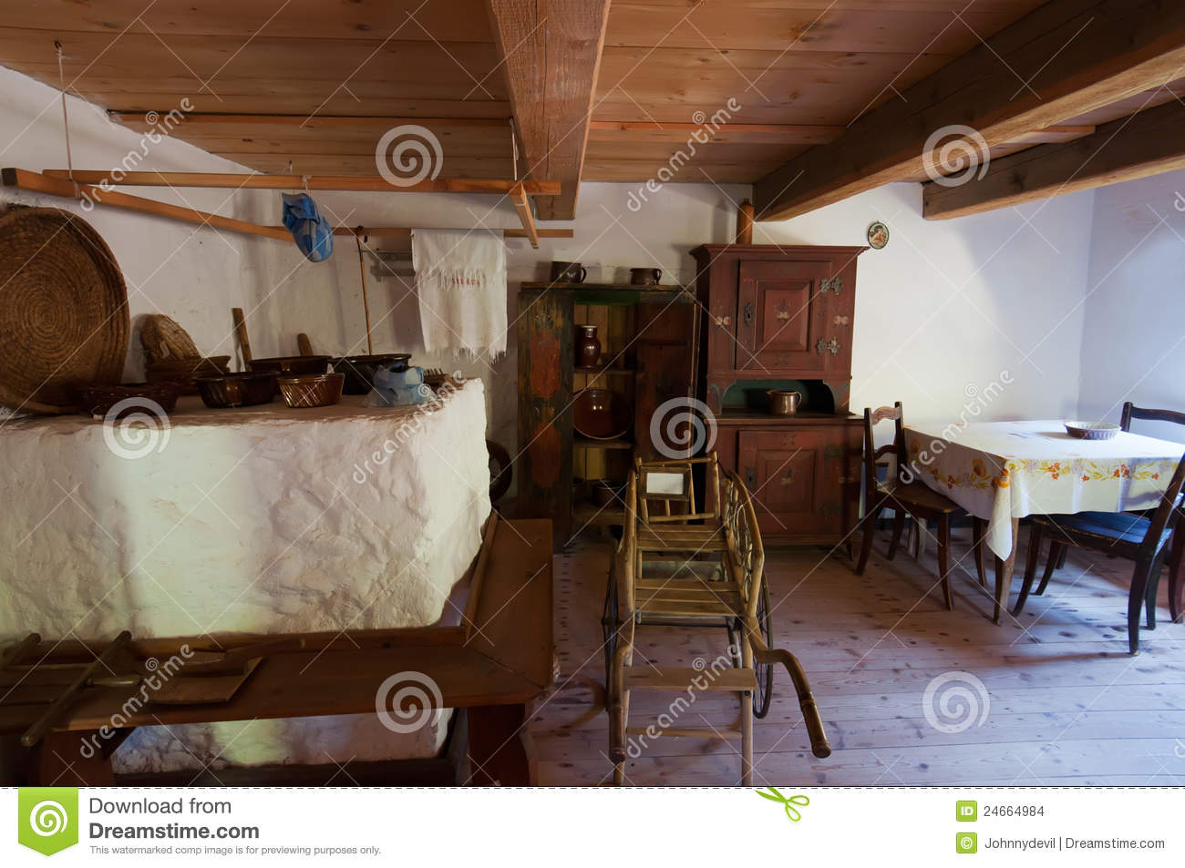 Old Wooden House Interior Stock Images Image 24664984