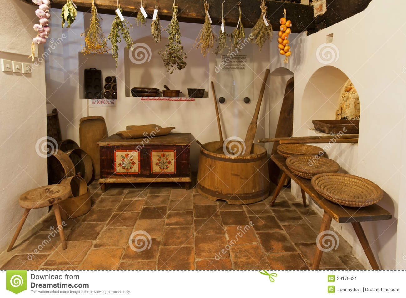 Old Wooden House Interior Stock Image Image Of