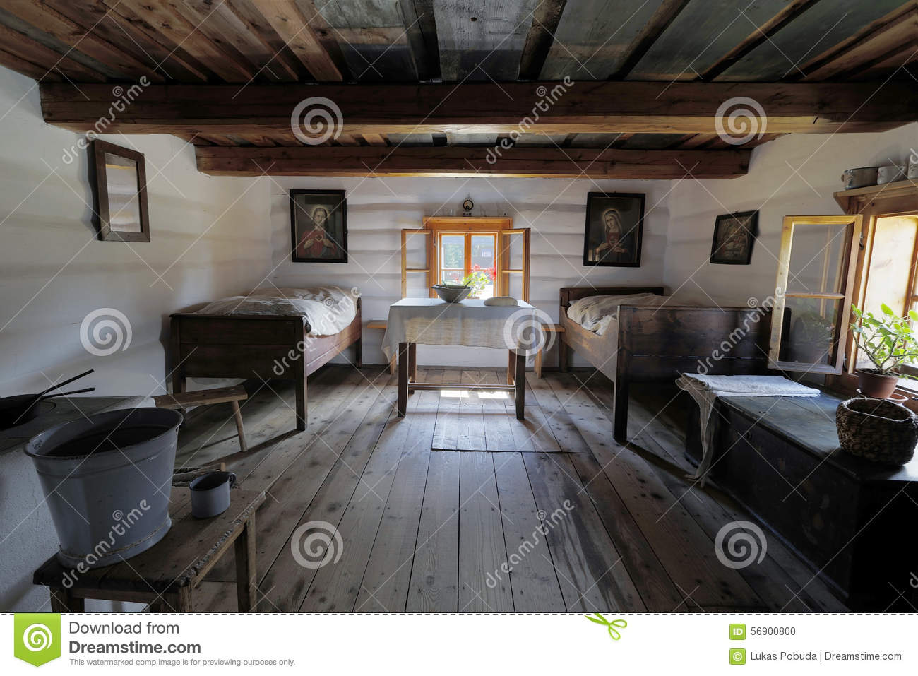 Old wooden house interior stock photo image 56900800 for Old home interior pictures