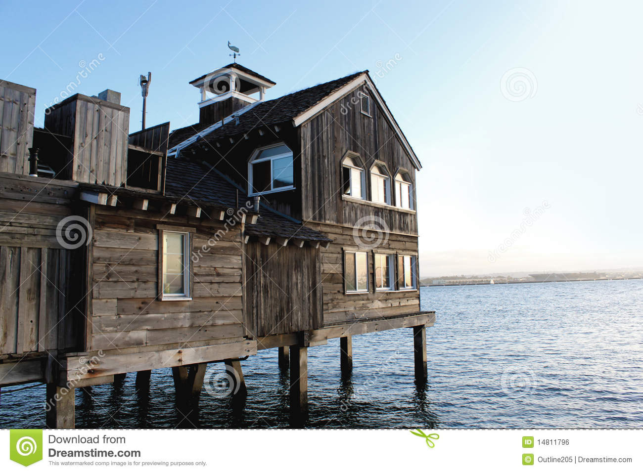 Old Wooden House On Sea Royalty Free Stock Image Image