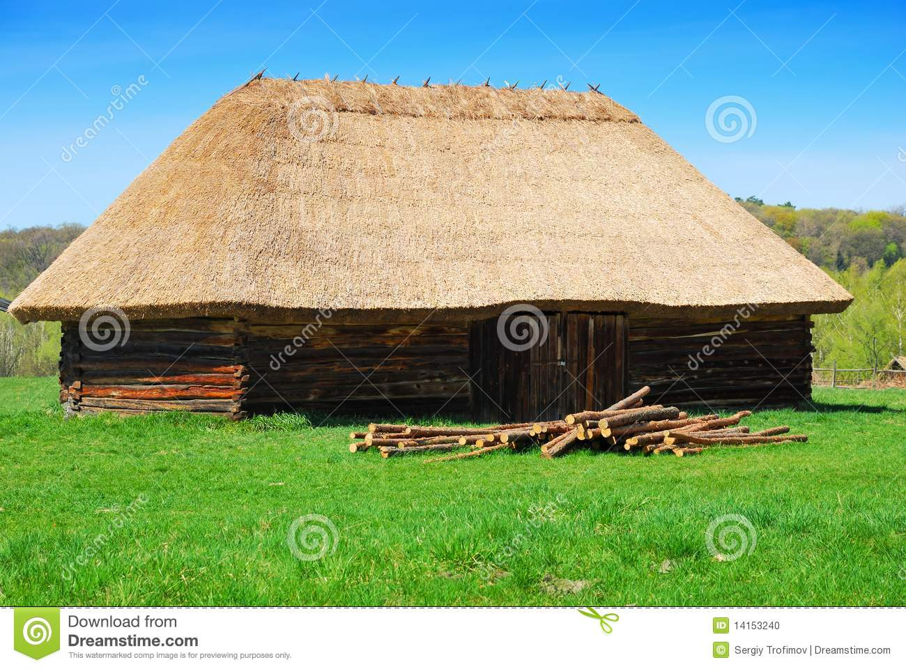 straw roof house
