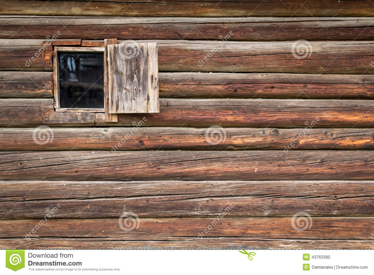 Old Wooden House Wall Stock Photo Image 43763385