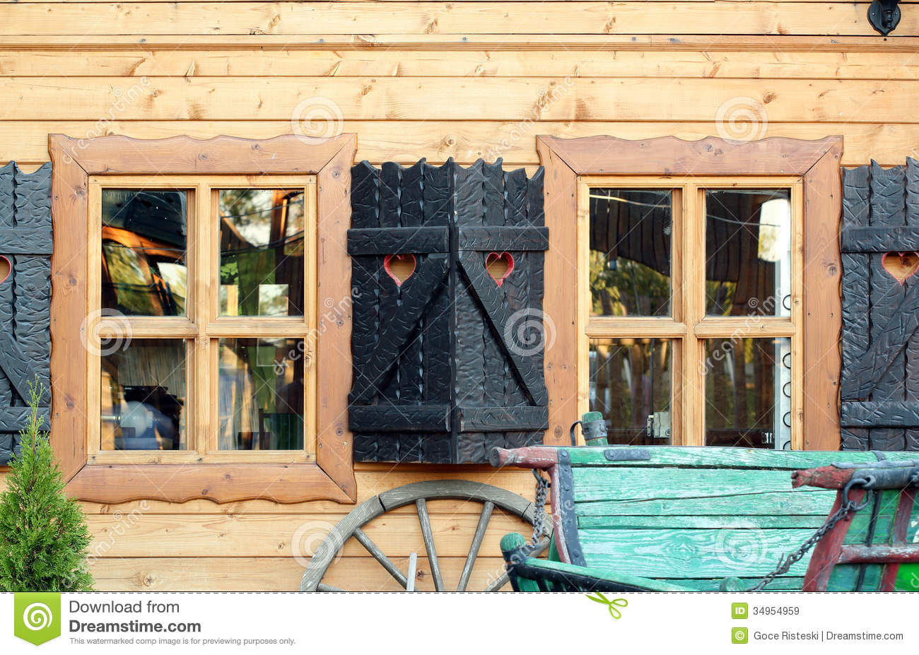 Windows for a wooden house 41