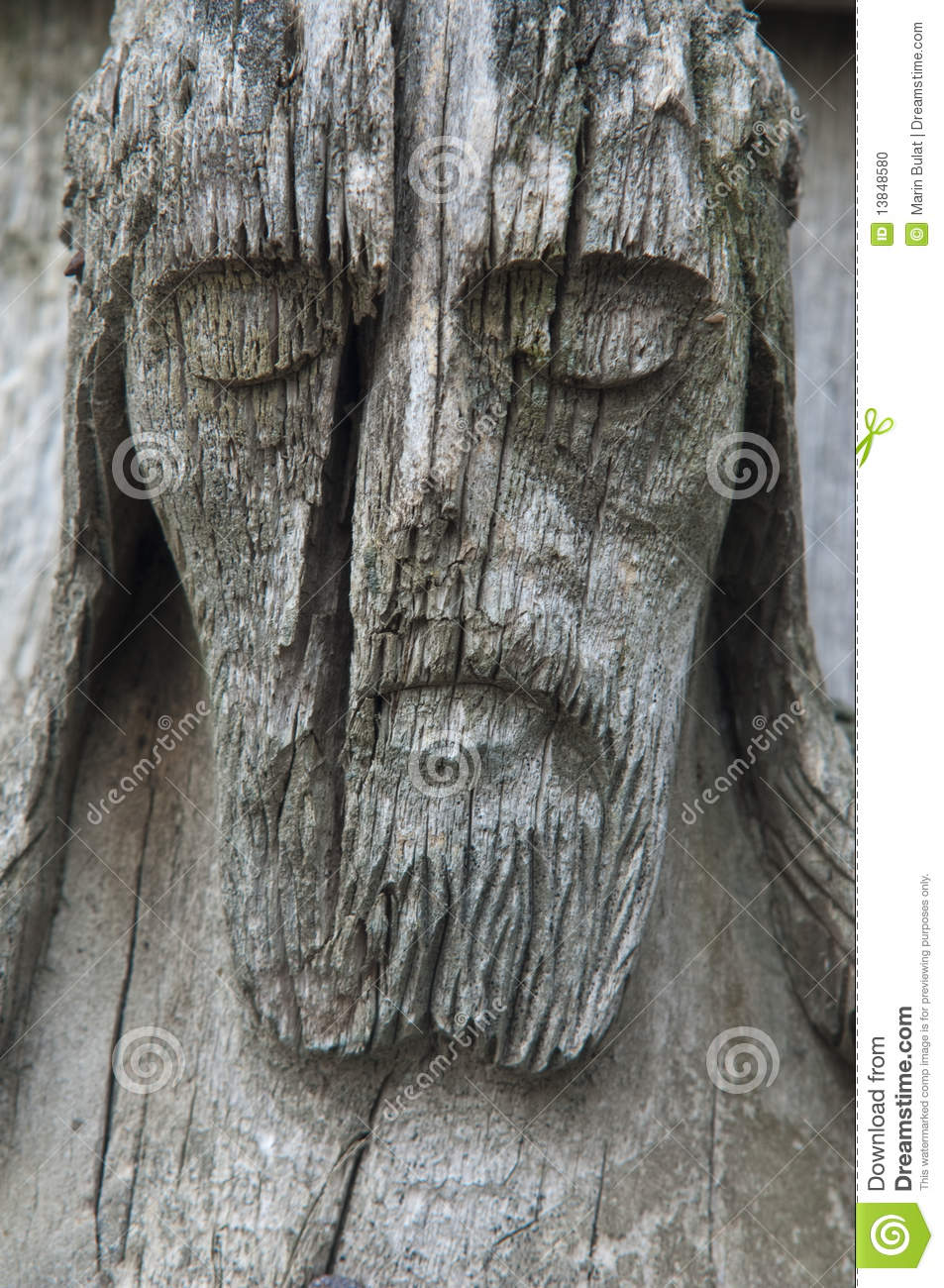 Old Wooden Jesus Christ Sculpture Stock Photo Image